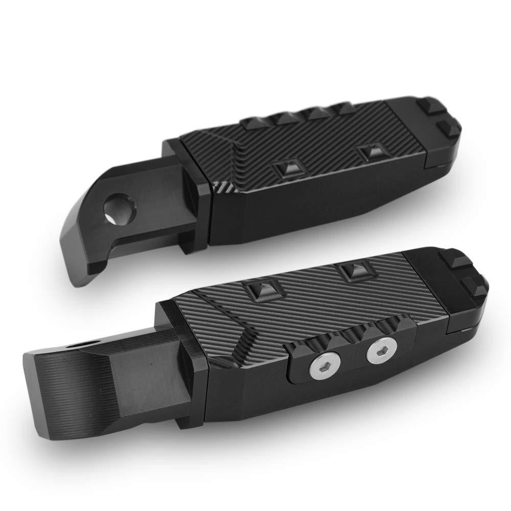 Black Motorcycle Rear Passenger Pedal Foot Pegs For Yamaha YZF R3 R25 MT-25 MT-09 MT-07 T-MAX530//500 XJ6 XSR700 FZ6//FZ6R