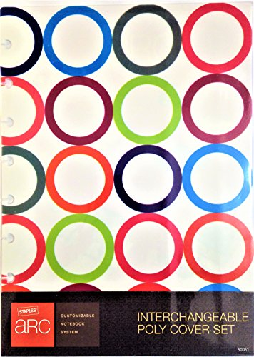 Circle Arc (Arc System by Staples Interchangeable Poly Cover Set, Repeating Circle Design, 6-3/8