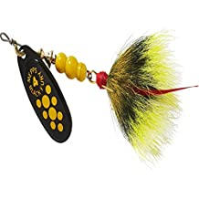 Mepps Black Fury Spinnerbait, YEL. DOTS