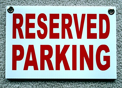 1-Pc Credible Modern Reserved Parking Sign Outdoor Message Yard Signs Store Decal Size 8