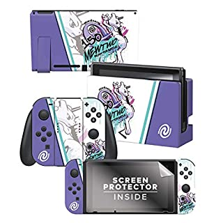 """Controller Gear Officially Licensed Nintendo Pokémon Switch Console Skin """"Mewtwo Skate Set 1"""""""