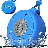 OJA Shower Speaker, Mini Wireless Waterproof Bluetooth Speaker, 5W Driver, Suction Cup, Portable Speakerphone, Built-in Mic, Hands-Free Calling (Blue)