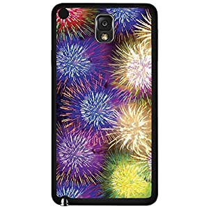 Colorful Fireworks Hard Snap on Phone Case (Note 3 III)