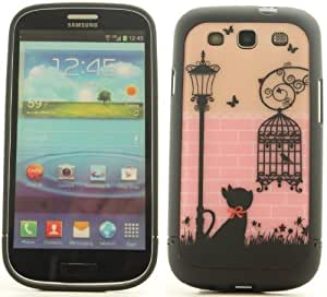 Black Cat Bird Cage Samsung Galaxy S3 SIII Cover Case S3D01