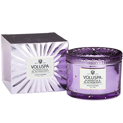 (Voluspa Boxed Aurantia and Blackberry Costa Maison Candle With Lid, 11 Ounce)