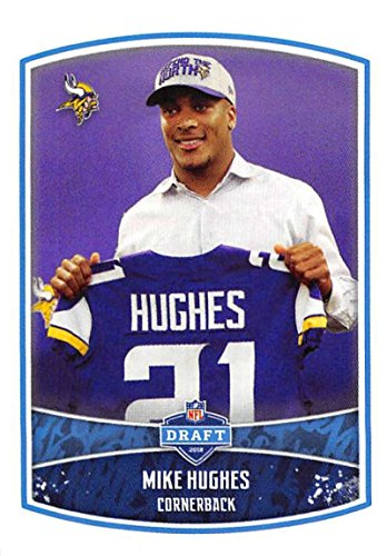 2018 Panini NFL Stickers Collection #14 Mike Hughes RC Rookie Minnesota Vikings Draft Picks Official Football Sticker