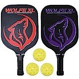 Wolfe XL Graphite Pickleball Paddle Set w/ 3 Pickleballs