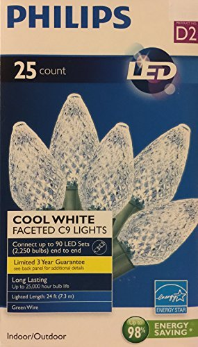 Philips 25 Led Faceted C9 String Lights in US - 3