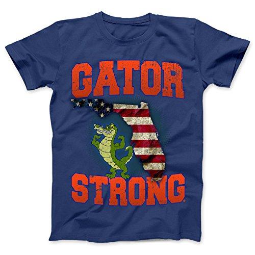 Gator Strong Florida State Limited Edition Print T-Shirt (XL, Royal) - Florida Gators 0.25' Gator
