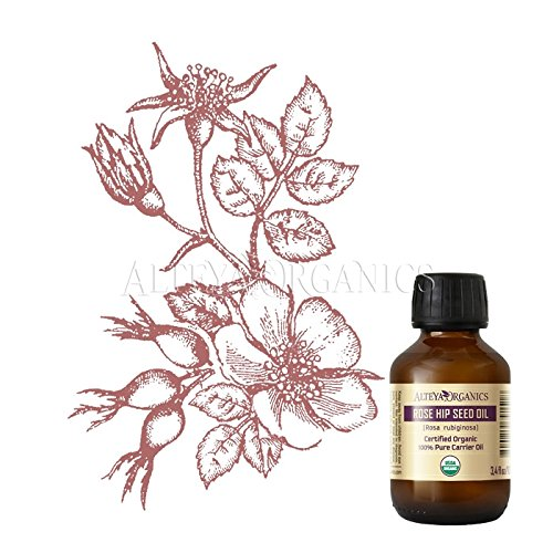 Alteya Organic Rosehip Oil 100ml - 100% USDA Certified Organic Pure Natural Cold Pressed Rosehip Seed Carrier Oil