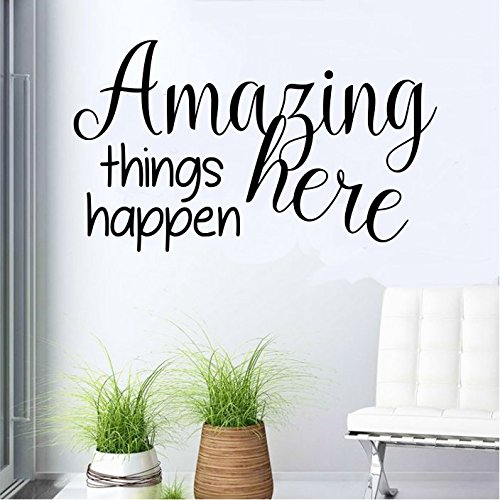 Amazing Things Happen Here(Black) Wall decal 13