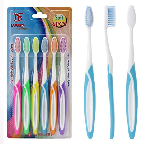Loair 6Pcs Double Ultra Soft Toothbrush - Nano Tooth Brush Oral Dental Care Set For Adult