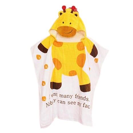 GudeHome Toallas de baño para niños en forma de animal lindo encapuchado algodón abrigo de baño