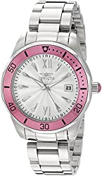 Invicta Women's 'Pro Diver' Quartz Stainless Steel Automatic Watch, Color:Silver-Toned (Model: 21906)