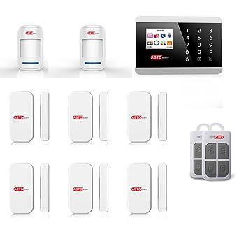 SZABTO Sistema inalámbrico de alarma de línea fija GSM para el sistema de seguridad en el hogar (C)