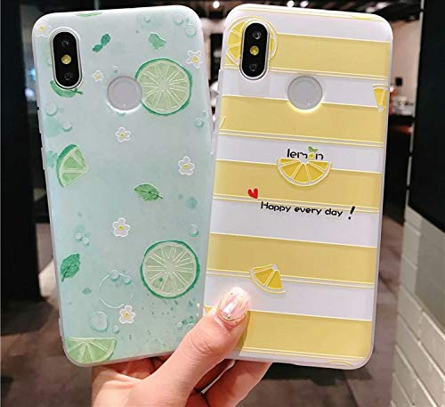 Summer Fruit Phone Case for Xiaomi mi 8 mi A1 A2 Slim Soft TPU Lemon  Watermelon Cover for Redmi Note 5 Pro Mi Mix 2 2s 4X Fundas,XGBQK,for  Xiaomi mi