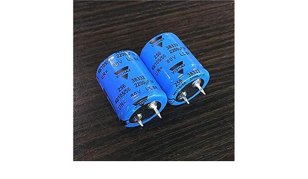 2pcs 2200uF 80V VISHAY LL 256 80V2200uF Snap-IN Aluminum Capacitor 25x30mm
