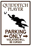 Quidditch Player Parking Plastic Sign 12 x 18in