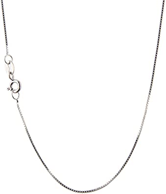 0.7mm Sterling Silver Rhodium Plated Box Chain