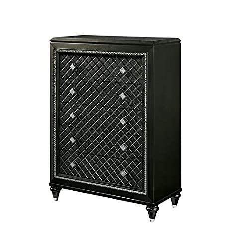 Amazon.com: Muebles de América Braylene Glam Chest en gris ...