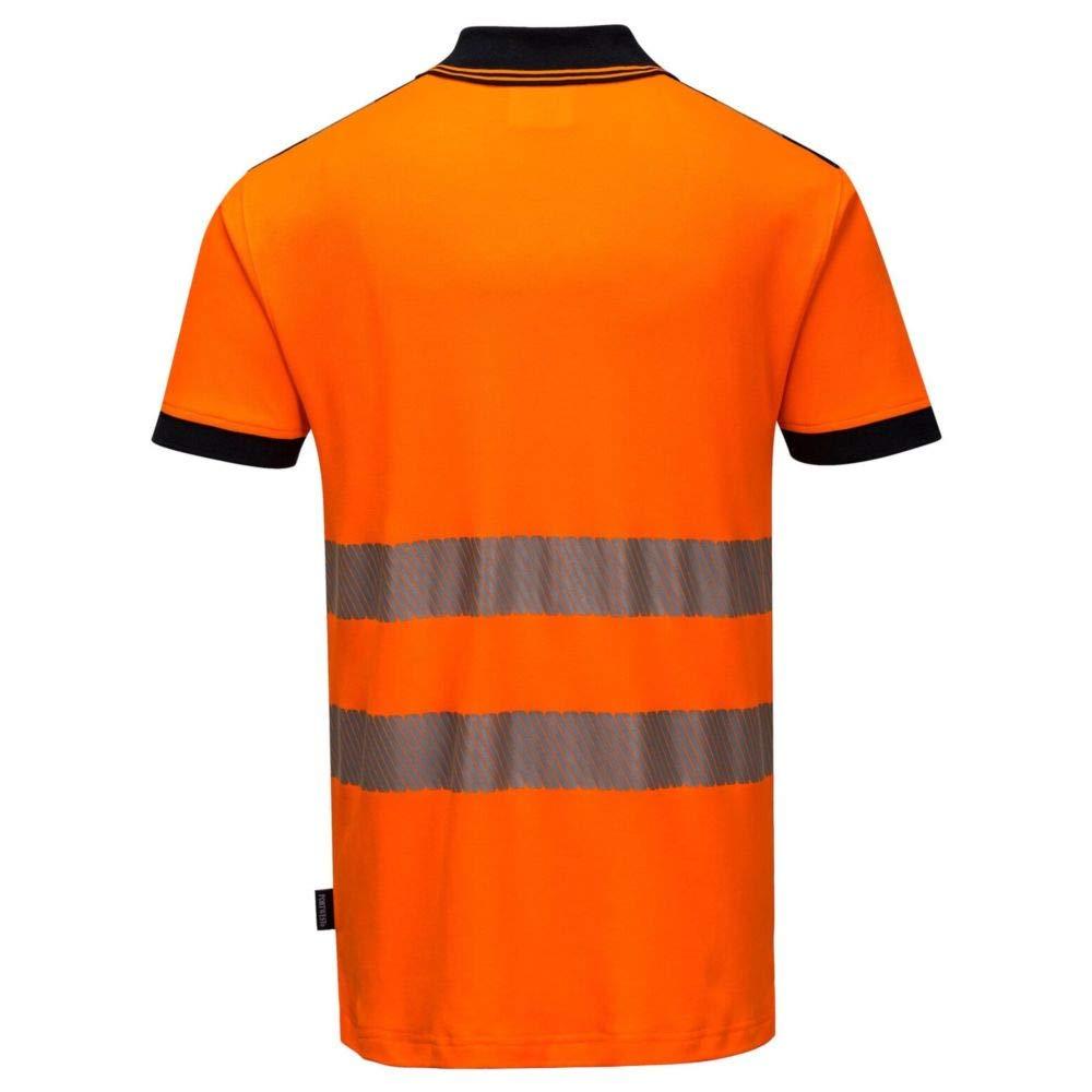 Gr/ö/ße XL Portwest T180YERXL Vision Hi-Vis Poloshirt Gelb
