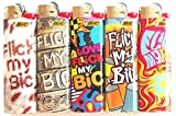 Flic My Bic Full Sized Lighters Mix Set Lot of 5
