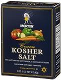 Morton Kosher Salt, 16-Ounce (Pack of 12)