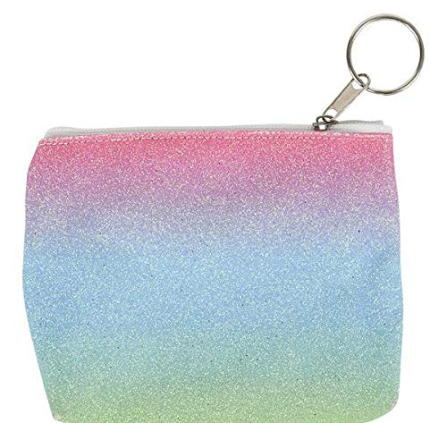 5'' Rainbow Sparkle Coin Purse KEYCAIN, Case of 288