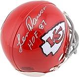 Len Dawson Kansas City Chiefs Autographed Riddell Mini Helmet with HOF 87 Inscription - Fanatics Authentic Certified