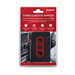 ISound Car Stereo Cassette Adapter - Plays Music From Your Audio Device to Your Car Stereo Cassette Player