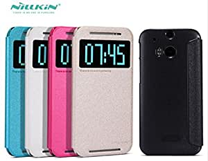 Deal4U NILLKIN Sparkle Series Flip Cover Case Leather Case For HTC New One M8 / HTC M8 Gift Screen Protector #-# Color#=White
