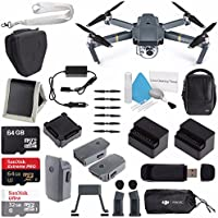 DJI Mavic Pro (Fly More Combo) CP.PT.000642 + DJI Power Bank Adapter for Mavic Intelligent Flight Battery CP.PT.000558 + DJI Aircraft Sleeve for Mavic Pro Quadcopter CP.PT.000666 Bundle