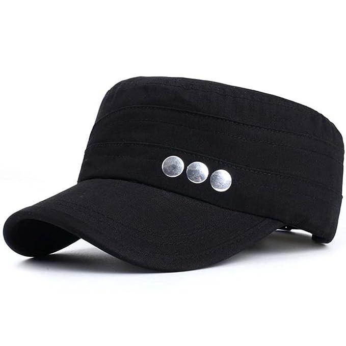 Sombrero/Hombres otoño versión coreana de la tapa plana/Gorra militar/ moda de ocio al aire libre deportes Cap/gorra/Gorras de visera-E ajustable: ...