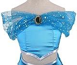 Lito Angels Girls Princess Jasmine Costumes Arabian Princess Dress Up Halloween Outfit with Headband + Earwings Size 4/5