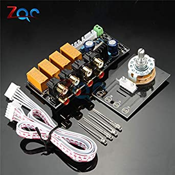 DIY Board Relay Switch Signal Selector for Audio Input Signal