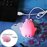 ZKxl8ca USB Wired Optical Gaming Mouse Mice 1200DPI Cute Mini Whale Ergonomic PC Laptop - Pink