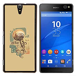 LECELL--Funda protectora / Cubierta / Piel For Sony Xperia C5 Ultra -- Steam Punk Vintage UFO --