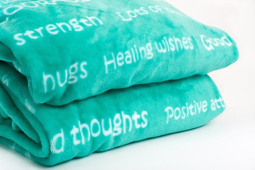Read About BlankieGram Healing Thoughts Blanket, 50-by-60-Inch