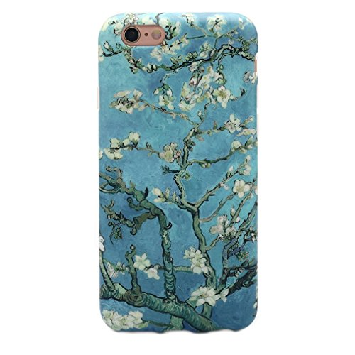 GOLINK iPhone 6 Case for Girls/iPhone 6 Floral Case, Floral Series Slim-fit Blossoming Almond Tree Van Gogh TPU Case for iPhone 6/6S (4.7 inch) - Blossoming Almond Tree (Van Iphone)