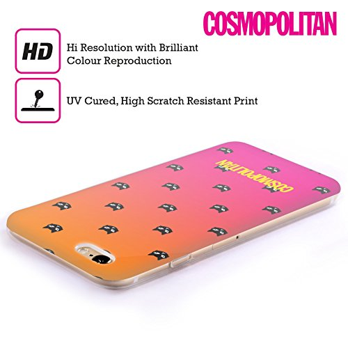 Official Cosmopolitan Orange And Pink Lovey The Cat Soft Gel Case for Apple iPhone 5 / 5s / SE