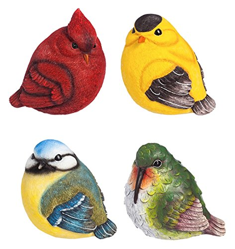 - New Creative for The Birds Portly Statue, 4 Piece Set
