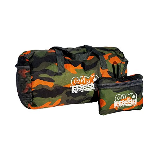 CamoFresh Foldable Sports Duffel Gym Bag Small Packable Lightweight Tote