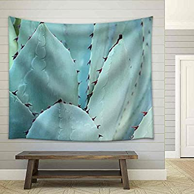 Grand Creative Design, Classic Artwork, Sharp Pointed Agave Plant Leaves Bunched Together Fabric Wall