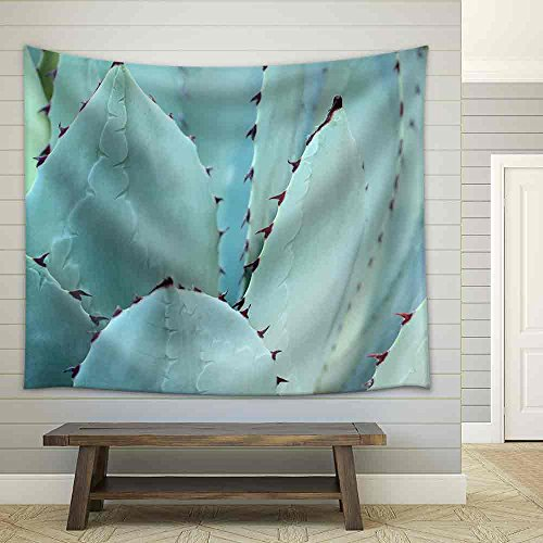 Sharp Pointed Agave Plant Leaves Bunched Together Fabric Wall