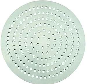 Winco APZP-12SP, 12-Inch Super-Perforated Aluminum Pizza Disk with 226 Holes, Pizza Screen Crisper