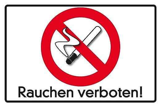 Prohibido Fumar Cartel de Chapa, 30 x 20 cm: Amazon.es: Hogar