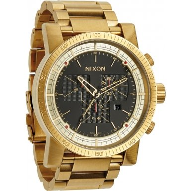 Nixon A457-510 Mens Magnacon SS II All Gold Black Watch