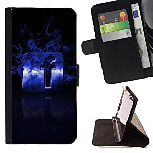 BETTY - FOR Samsung Galaxy Note 3 III - Flaming F - Style PU Leather Case Wallet Flip Stand Flap Closure Cover