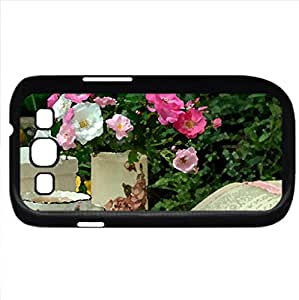 Lovely afternoon (Flowers Series) Watercolor style - Case Cover For Samsung Galaxy S3 i9300 (Black)