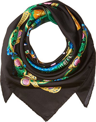 Versace  Men's Print Scarf Black One Size by Versace